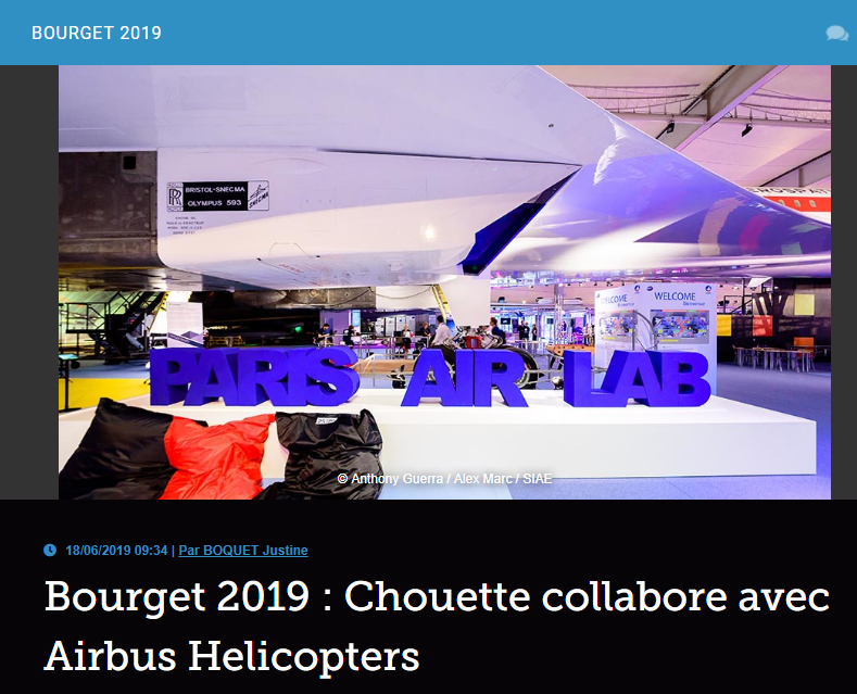 Bourget 2019 : Chouette collabore avec Airbus Helicopters