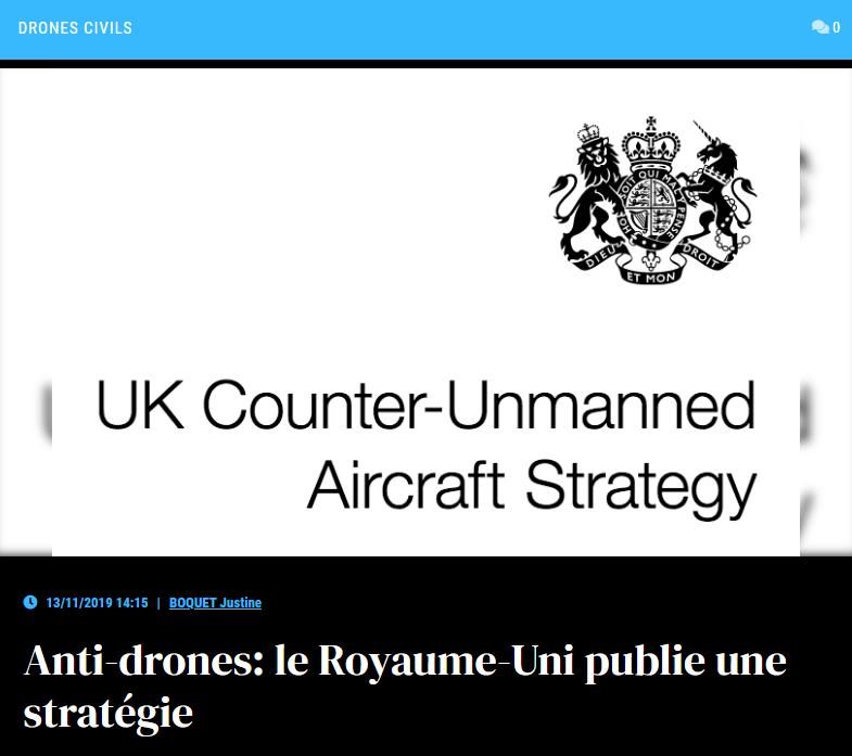 Anti-drones: le Royaume-Uni publie une stratégie