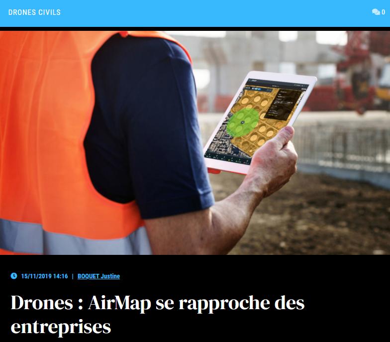 Drones : AirMap se rapproche des entreprises