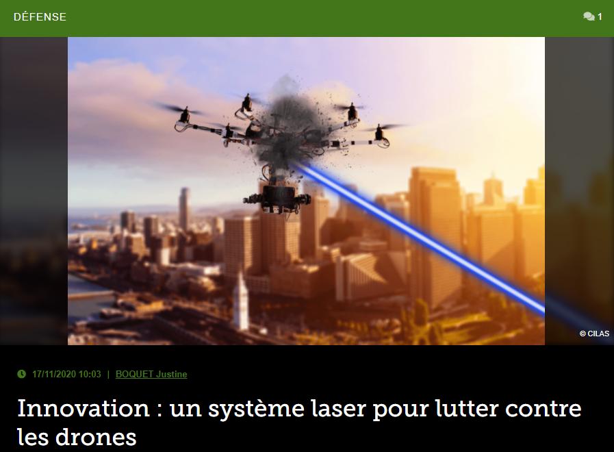 Innovation: un système laser pour lutter contre les drones